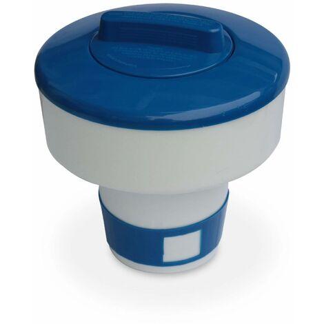 Diffuseur flottant réglable de chlore ou brome pour tablette de 7cm, doseur flottant 17cm pour piscine/ spa - grand modèle