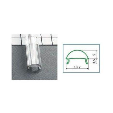 Diffuseur Lentille 60° 15.4 mm Transparent pour profilé LED 1000 mm