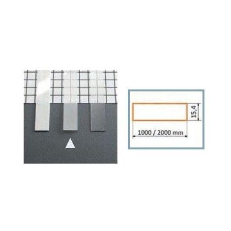Diffuseur plat 15,4 mm pour Profilé LED Aluminium