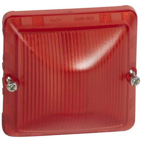 Diffuseur pour lampe rouge Plexo composable IP55 gris et blanc (069591)