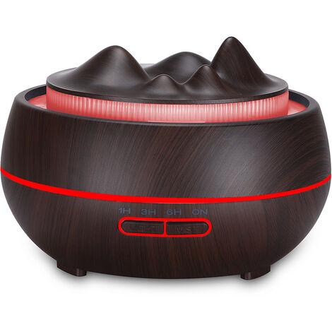 Difusor de aroma humidificador de aire aceite esencial del equipo con 7 Configuracion de iluminacion LED para Ministerio de coches, Negro