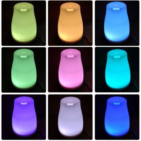 Difusor de aroma Humidificador de niebla ultrasónico Humidificador de habitación Tecnología de niebla fría Sin cierre automático del agua con cambio de color LED sin ruido para la habitación de los niños, el dormitorio, la oficina, etc.