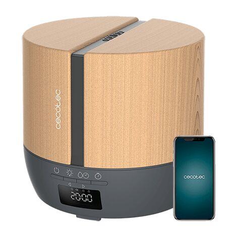 "main image of ""Difusor de aroma purearoma 550 connected grey woody, capacidad 500ml, pantalla led, temporizador 12h, control bluetooth, app, 3"""