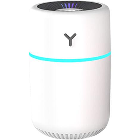 Difusor de humidificador de niebla colorida de 260 ml, humidificador USB silencioso de luz nocturna portatil de 7 colores, con 2 modos de niebla