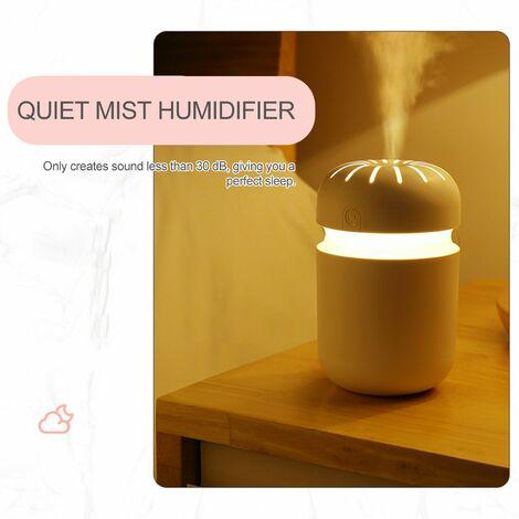 Difusor de humidificador de niebla de 300 ml, luz nocturna portatil