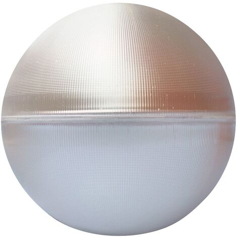 Difusor esférico metacrilato prismático con reflector de aluminio -Disponible en varias versiones