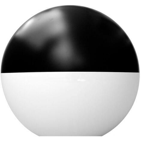 Difusor esférico policarbonato opal pintado negro -Disponible en varias versiones