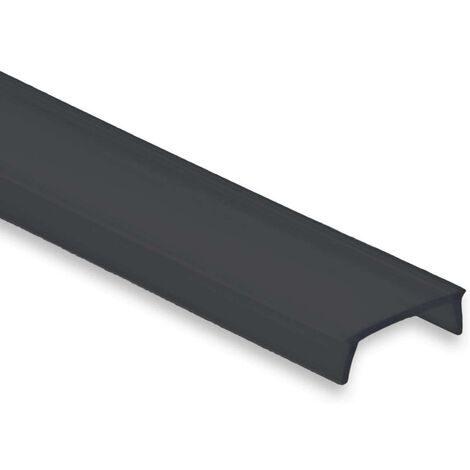 Difusor negro para perfiles de tira LED de 17mm (2m)