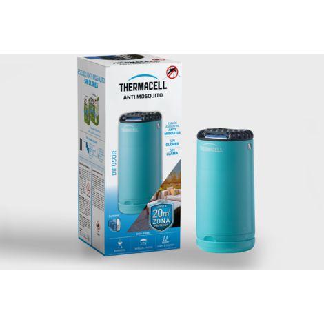 Difusor Thermacell® Anti Mosquito color Azul. Fácil de usar, Altamente eficaz e Inalámbrico; Crea un escudo Anti Mosquito de 20 m2, te ofrece 12 Horas de protección sin DEET, sin humo, sin spray.