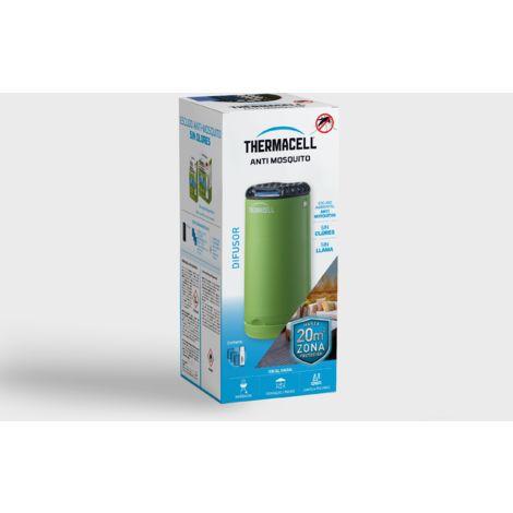 Difusor Thermacell® Anti Mosquito, color verde. Fácil de usar, Altamente eficaz e Inalámbrico; Crea un escudo Anti Mosquito de 20 m2, te ofrece 12 Horas de protección sin DEET, sin humo, sin spray