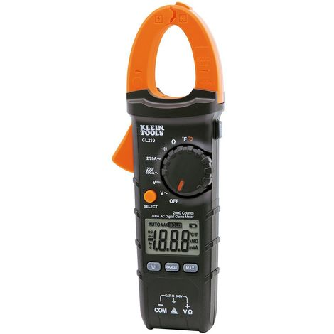 Digital Clamp Meter, AC Auto-Ranging with Temp