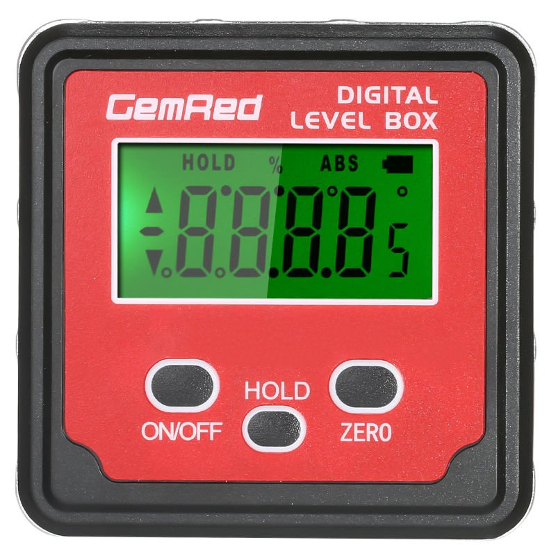 Image of Digital display inclination box angle device 3 buttons shipped without battery - GEMRED