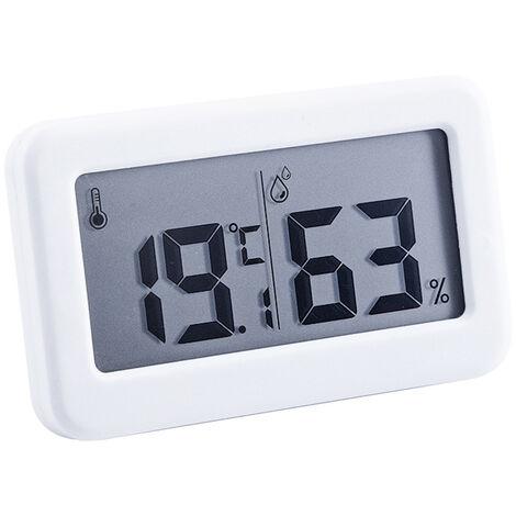 Digital higrometro electronico Temperatura Humedad Medidores Medidor LCD de pantalla retroiluminada cubierta termometro higrometro con soporte para el parachoques para Invernadero Jardin Bodega