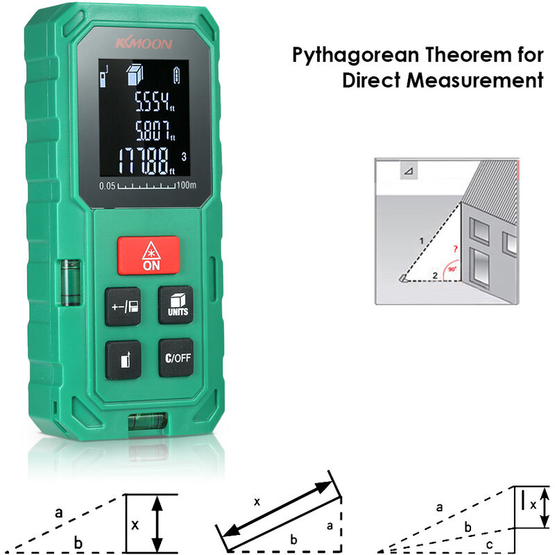 Image of Digital laser rangefinder shipped without battery green