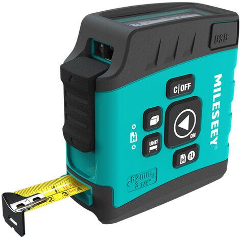 Digital Laser Ruban A Mesurer Ruban Puissance Telemetre Laser 131Ft Laser Mesureur Avec 16Ft Lcd 2,0 Mesureur Bande Pouces Ecran Distance Mesure Gauge Laser Range Finder, 40M