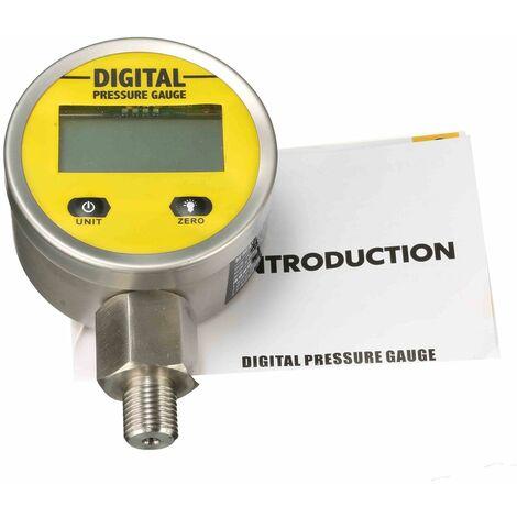 Digital Manomètre Hydraulique Huile Pression Jauge 250BAR/25Mpa/3600PSI BSP1/4 pouce