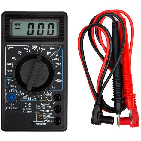 Digital Multimeter Amperemeter Ohm hFE 6 Funktionen Digitalmultimeter Messung