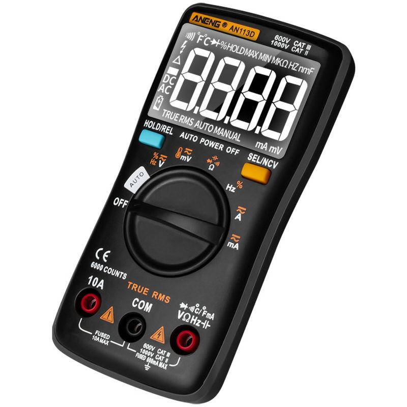 Image of Digital Multimeter DC / AC Voltage Tester Black
