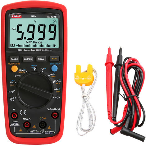 Digital multimeter Non-contact AC voltage sensing shipped without battery