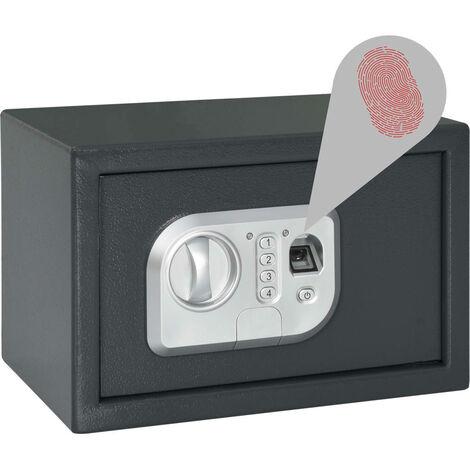 Digital Safe with Fingerprint Dark Grey 31x20x20 cm