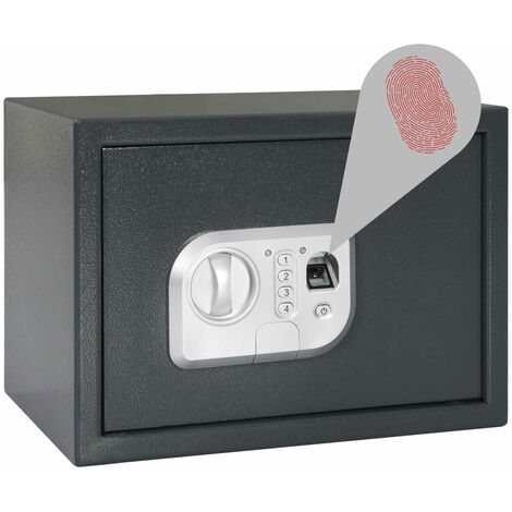 Digital Safe with Fingerprint Dark Grey 35x25x25 cm