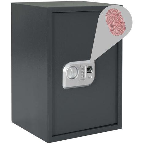 Digital Safe with Fingerprint Dark Grey 35x31x50 cm