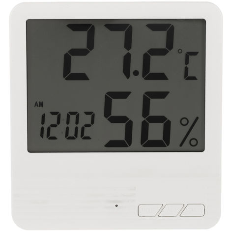 Digital Thermometer Hygrometer White