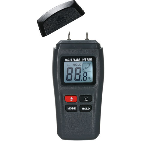 Digital Wood Moisture Meter Handheld LCD Lumber Damp Detector Timber Humidity Content Tester