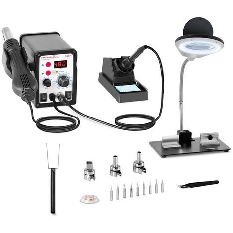 Lötkolben Digitale Lötstation mit Temperatureinstellung und Display SMD