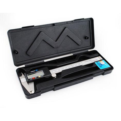 Digitaler Messschieber Digitale Schieblehre LCD 150 mm / 6 Zoll Hochpräzise Edelstahl Schieblehre mit LCD Display für Durchmesser Messung für Haushalt und Industrie 099