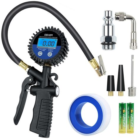 Digitaler Reifendruckmesser mit LCD-Bildschirm Reifendruckprüfer Reifenfüller Luftdruckprüfer Hohe Präzision 255 PSI für Auto Motorrad PKW LKW