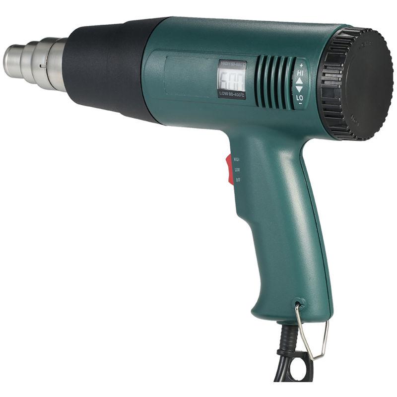 Image of Digital display adjustable temperature hot air gun