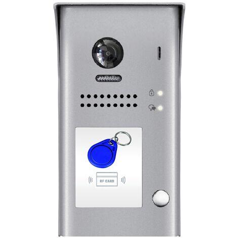 Digitone by Gates - DT-607B - Platine de rue avec 1 bouton d'appel et lecteur de badge - Gris