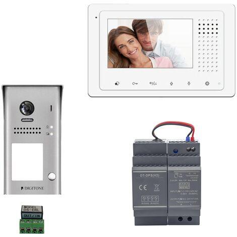 Digitone - DIGI43 - Kit portier vidéo avec moniteur couleur 4.3' - Argent