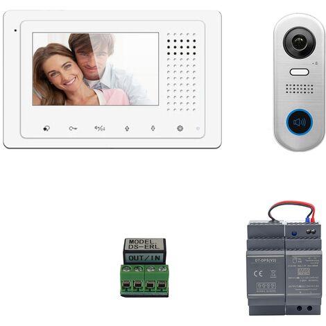 Digitone - DIGI43A - Kit portier vidéo avec moniteur couleur 4.3' - Argent