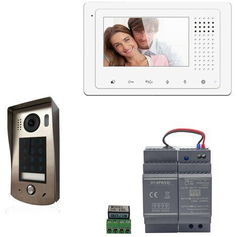 Digitone - DIGI43C - Kit portier vidéo avec moniteur couleur 4.3' - Argent