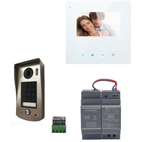 Digitone - DIGI43CW - Kit portier vidéo wi-fi avec moniteur couleur 4.3' - Argent