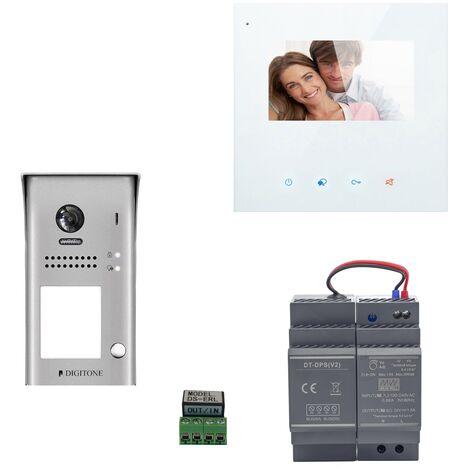 Digitone - DIGI43W - Kit portier vidéo wi-fi avec moniteur couleur 4.3' - Argent