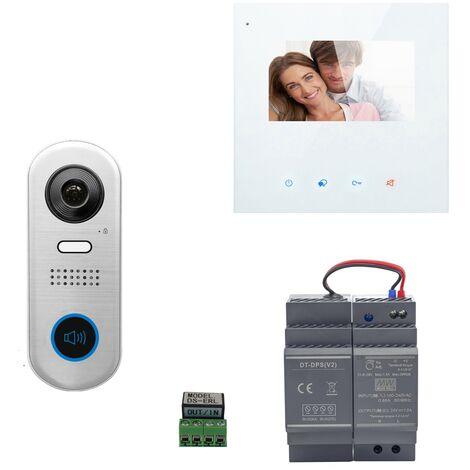 Digitone - DIGI43WA - Kit portier vidéo wi-fi avec moniteur couleur 4.3' - Argent