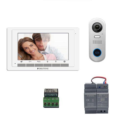 Digitone - DIGI7A - Kit portier vidéo avec moniteur couleur 7' - Argent