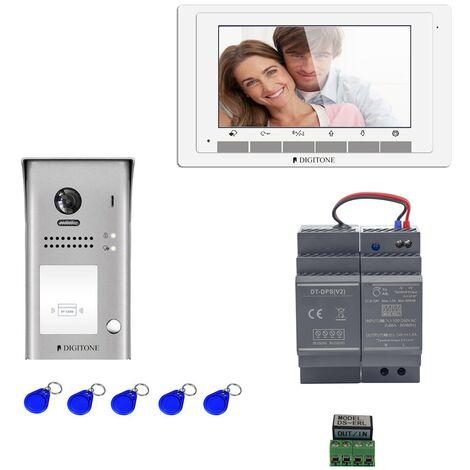 Digitone - DIGI7B - Kit portier vidéo avec moniteur couleur 7' - Argent
