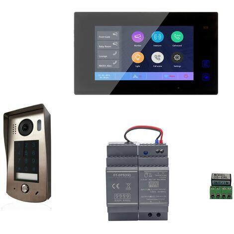 Digitone - DIGI7CW - Kit portier vidéo wi-fi avec moniteur couleur 7' - Argent