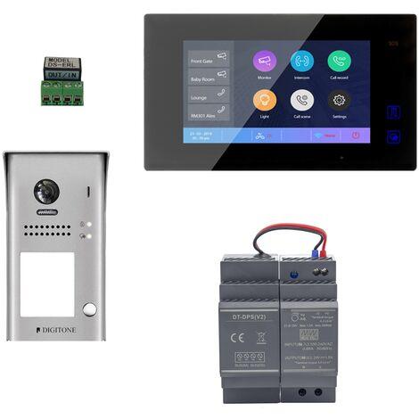 Digitone - DIGI7W - Kit portier vidéo wi-fi avec moniteur couleur 7' - Argent