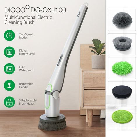 Digoo Dg-Qxj1 Multifunctional Electric Cleaning Brush 5 Brush Remove Strong Dust Spots For Home Office Hasaki