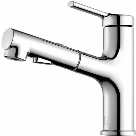"""main image of """"DIIIB - Grifo para lavabo con rociador extraible, grifo monomando para lavabo, grifo monomando para lavabo, lavabo abatible con cano giratorio"""""""