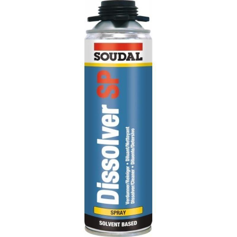 Soudal - Diluant dissolvant Dissol Spray, incolore, aérosol de 500 ml