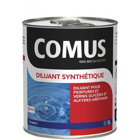 DILUANT SYNTHETIQUE - 5L Diluant pour peintures et vernis type glycérophtaliques et alkyde-uréthanes - COMUS - incolore