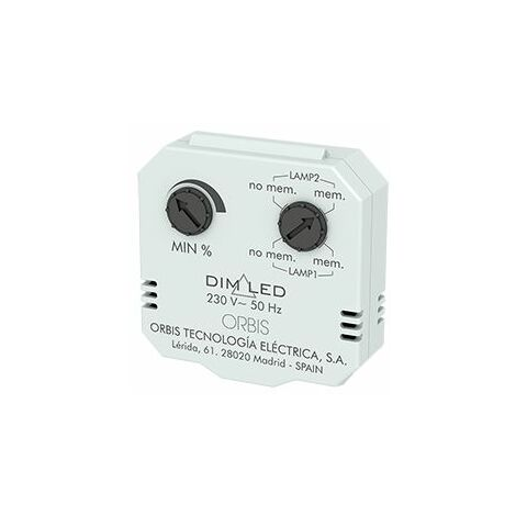 DIM LED Regulador de luminosidad para montaje oculto en caja Universal o Registro Orbis OB200009