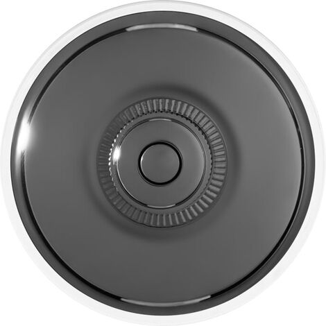 60310753 FONTINI DIMBLER Bouton Poussoir Carillon Porcelaine Noire Coque Bronze R/éf