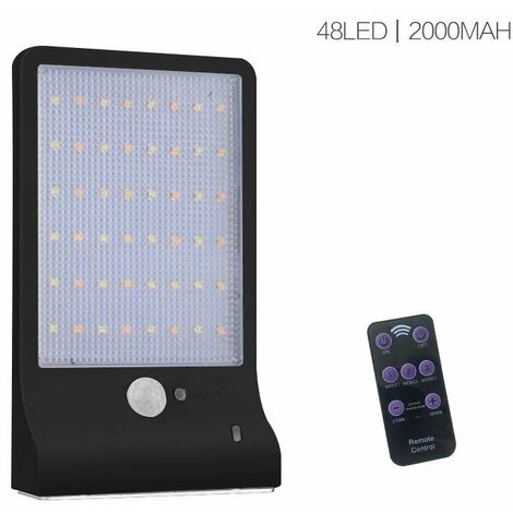Dimmable and waterproof outdoor sunlight Human body induction lamp Lighting lighting, 48LED, 2000mAh, without balustrade